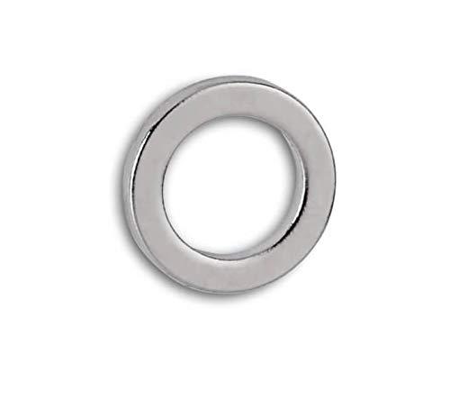 Maul Neodym-Ringmagnet, rund, 0, 5 kg Haftkraft, 12 x 1, 5 mm, hellsilber, 10 Stück