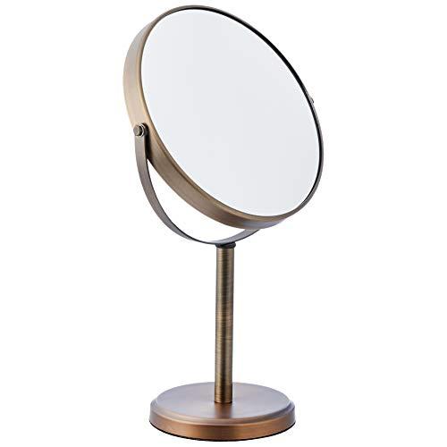 AmazonBasics - Zweiseitiger, hoher Kosmetikspiegel, Bronze