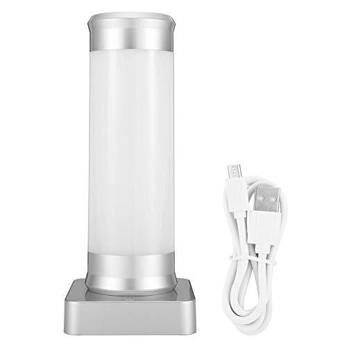 Lámpara LED de mesa con control táctil para lectura, decoración de dormitorio, carga USB
