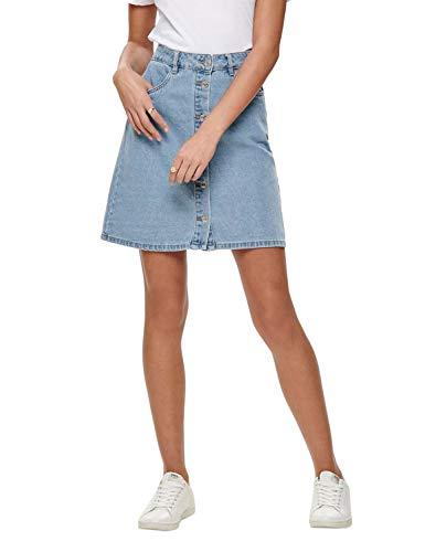 ONLY NOS Damen Onlfarrah Reg Dnm Skirt Bj14427 Noos Rock Blau (Light Blue Denim), 36 (Herstellergröße:36.0)