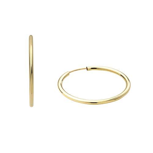amor Creolen für Damen, Gold 375, 25 mm