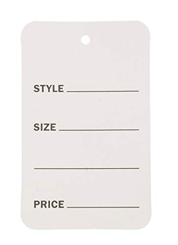 """Large Unstrung White Non-Perforated Price Tags - 1 3/4""""W x 2 7/8""""H - Pack of 1000"""