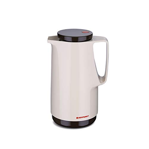 ROTPUNKT Isolierkanne 760 Maxima 1,0 l | Zweifunktions-Drehverschluss | BPA-frei - gesundes Trinken | Made in Germany | Warm + Kalthaltung | Glaseinsatz | Latte Macchiato