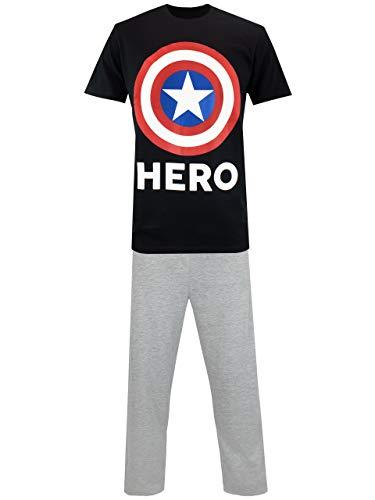 Marvel Herren Captain America Schlafanzuge Mehrfarbig Size X-Large
