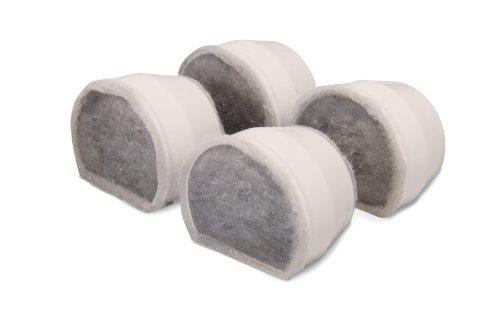 PetSafe PAC19-14088 Filtros De Carbón De Repuesto para Fuentes para Mascotas De Cerámica Drinkwell (4 Unidades) 🔥