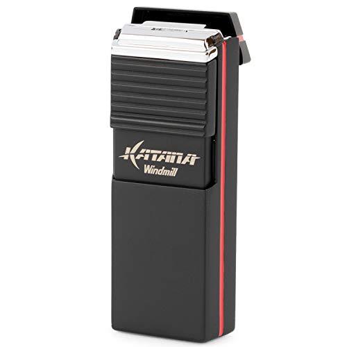 WINDMILL(ウインドミル)ライターカタナフラットフレーム耐風仕様ブラックW08-0003