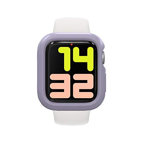 RhinoShield Coque Bumper Compatible avec Apple Watch Se & Séries 6/5 / 4 - [44mm] | CrashGuard NX - Protection Fine Personnalisable avec Technologie Absorption des Chocs - Lavande