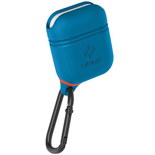 Catalyst Airpods Hülle - Stoß und Fallfeste Airpods Schutzhülle, Wasserdicht und Weich auf der Haut, Anti-Lost Karabinerhaken, Silikonabdichtung, Hochwertigen für Apple Kopfhöhern Zubehör, Blau/Rot