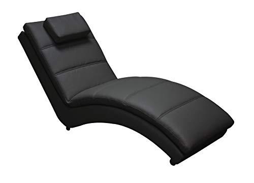 Divan Chaise Longue en Polipiel Negra