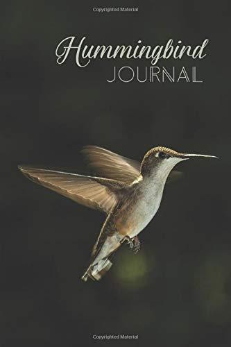 Hummingbird Journal: Lined Blank Wide Ruled Hummingbird in Flight Gift for Hummingbird Lovers