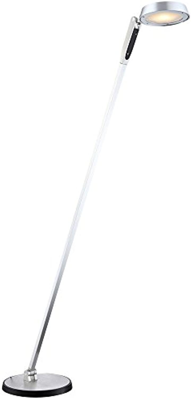 LED 10 Watt Steh Stand Lampe Touch Dimmer Leuchte Alu Glas satiniert Globo 58139s
