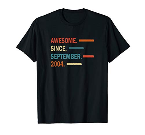 Awesome Since September 2004 16th Birthday Gift Vintage 2004 T-Shirt