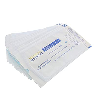 MonMed Self Seal Sterilization Pouches - 5.25 x 10 Inch Medical and Dental Sterilizer Bags, Autoclave Pouch Pack
