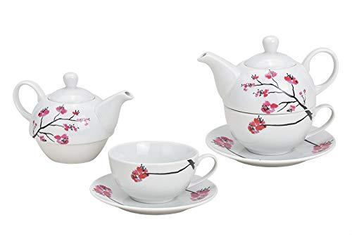 Tea for One Set Cherry Blossom ( Kanne & Tasse & Untertasse )