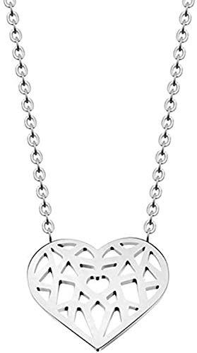YZXYZH Collar Collares Origami Corazón Amor Collares Colgantes Mujeres Joyería Bohemia Regalos De Dama De Honor Collar