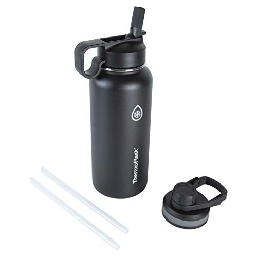 Thermoflask Double Stainless Steel Insulated Water Bottle, 32 oz, Black