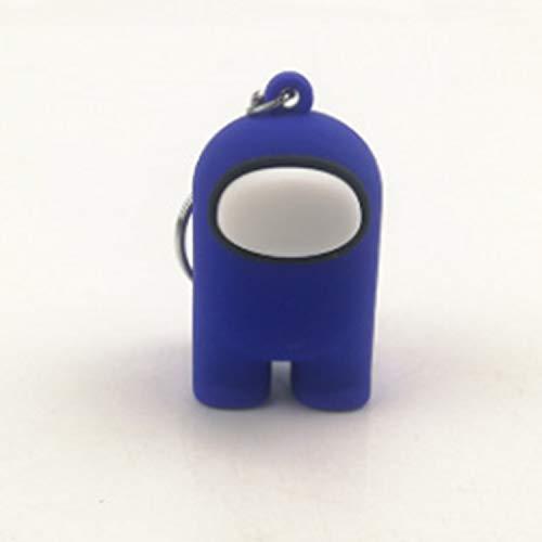 RecontraMago Among Us Llavero Muñecos -  Figuras con Caja Amongus -  Perfecto para Regalo -  Distintos Colores -  Peluche Juguetes muñecos -  Cara Feliz niños cumpleaños (Azul)