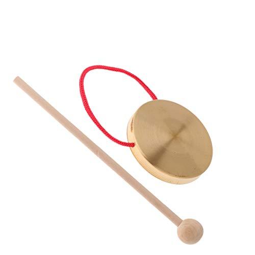 Chunyang 1 Set Hand Gong Cymbals Band Rhythm Percussion-Instrument Tragbares Kupfer Gong mit Stock