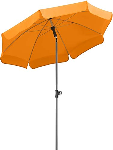 GCX Sombra Paraguas de Sol Rojo / / / Naranja Azul Amarillo/Verde de Sombra al Aire Libre Patio con Convertido sombrilla de Playa Portátil (Color : Orange)