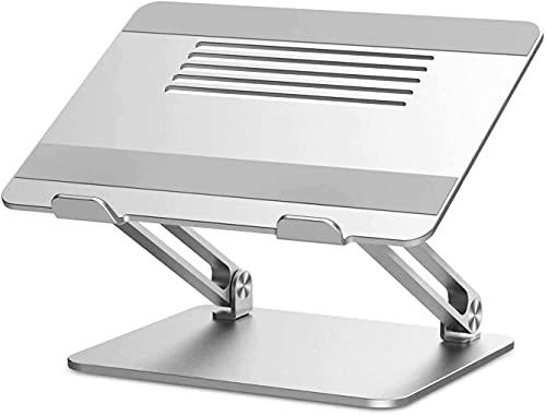 wangYUEQ Soporte for portátil, Elevador de computadora portátil Multi-ángulo con ventilación de Calor, Soporte de Cuaderno Ajustable Compatible for computadora portátil 11-17 Pulgadas -Silver