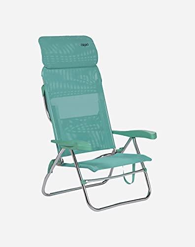 Crespo Camping Stuhl AL 223 Compact Garten Liege Stuhl Klappstuhl Klappbar Alu Grün