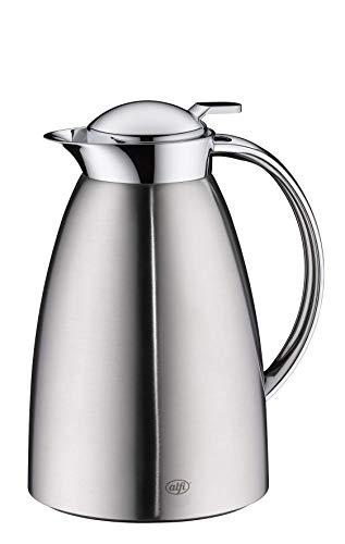 alfi Gusto, Thermoskanne Edelstahl mattiert 0,65L, alfiDur Glaseinsatz, auslaufsicher, Isolierkanne hält 12 Stunden heiß, 3562.205.065 ideal als Kaffeekanne oder als Teekanne, Kanne für 5 Tassen