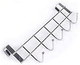علاقة لادوات المطبخ من الستانلس ستيل للجزء الخلفي لباب خزانة المطبخ - خمسة خطافات