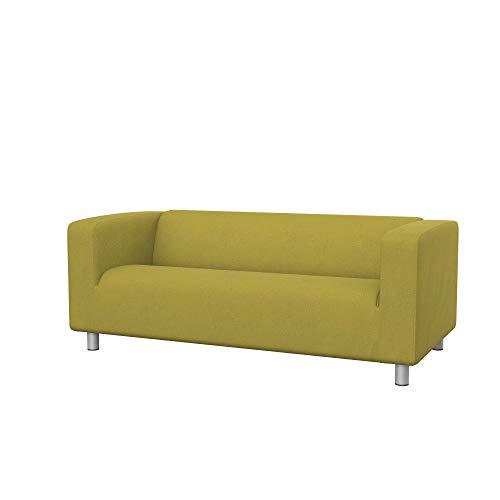 Soferia - Funda de repuesto para sofá IKEA KLIPPAN de 2 plazas, tejido Softi Amarillo Oscuro