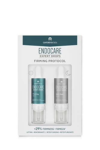 Endocare Endocare Expert Drops Firming Protocol - Tratamiento Facial Antiedad, Reafirmante, Redensificante, Retexturizante Y Renovador, Todo Tipo De Pieles, 2 Droppers X 10 Ml 20 ml
