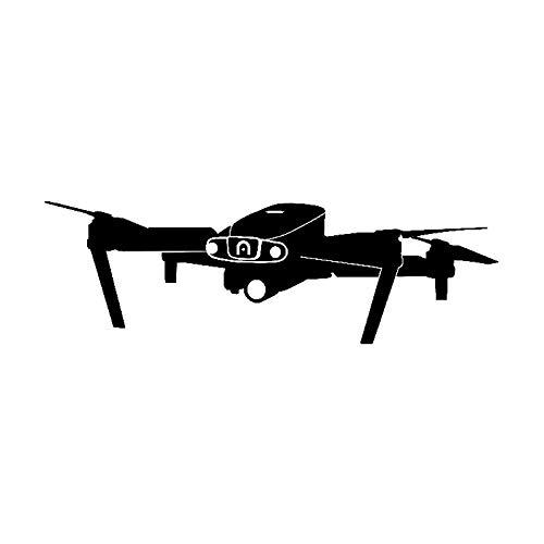 WBXZY 15 CM * 4,8 CM UAV Drone Coche Pegatina Personalidad Vinilo calcomanía C3-0179-Negro