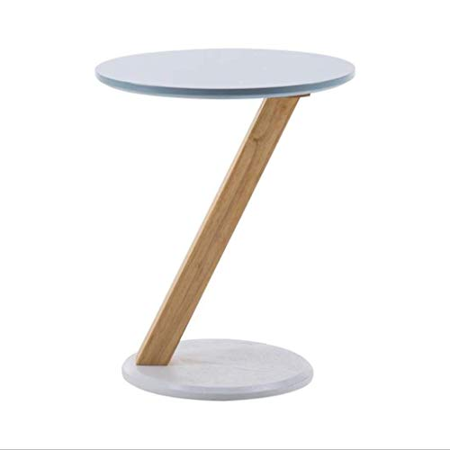YVX Small Side Table, Z-Shaped Sofa Side Table Coffee Table Small Table Solid Wood End Table for Living Room, Office (Color : A, Size : 50CM)