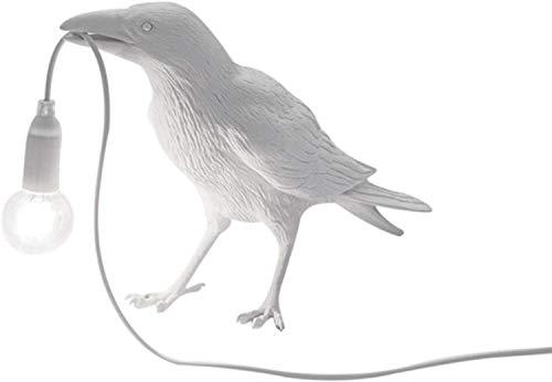 HKMA Lámpara De Mesa De Pájaro Dormitorio Resina Cuervo Lámpara De Mesa Lámpara De Noche Lámpara De Mesa Lámpara De Mesa Decoración De La Casa Lámpara De Pared