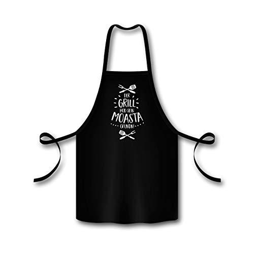 Bavariashop BBQ-schort GrillMoasta, ideaal cadeau-idee voor gepassioneerde grillmeester, katoen, unisex