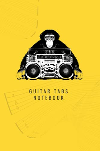 Guitar Tabs Notebook: Jungle Music - Yellow