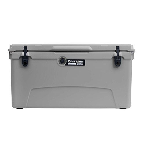 Driftsun 110qt Insulated Ice Chest - Heavy Duty, High Performance Roto-Molded Commercial Grade Cooler (Gray)