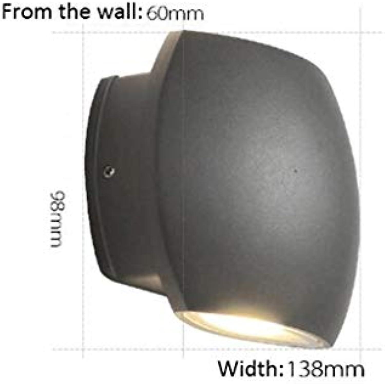 Die externe Beleuchtung IP54 Innenseite der Aluminium Balkon laufen (graue Farbe) LED Wandleuchte abgedichtet
