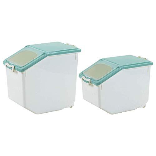 woyaochudan Recipiente de Almacenamiento de arroz de 10 kg + Almacenamiento de arroz de 15 kg, Recipiente Conveniente para almacenar Alimentos, bocadillos y Granos por Separado