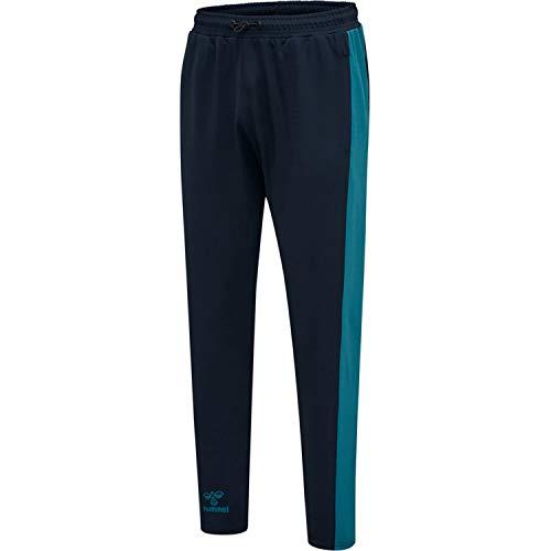 HUMMEL Unisex-Adult HUMMEL ACTION TRAINING PANTS Sweatpants, Dark Sapphire/Blue Coral, S