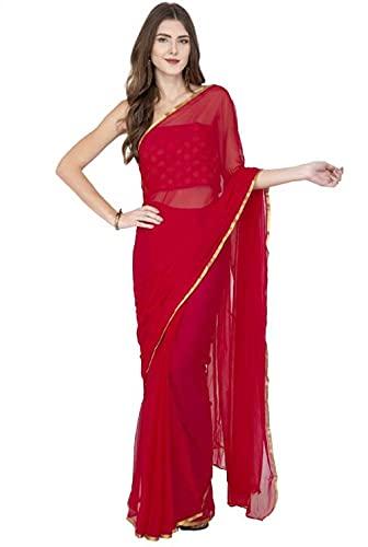 ANNI DESIGNER Women's Pure Chiffon Saree