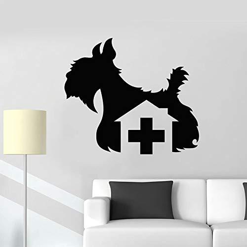 Calcomanías de pared de animales para perros clínica veterinaria tienda de mascotas salón de belleza decoración pegatina de vinilo para el hogar creativo ~ decoración de arte de fondo de TV