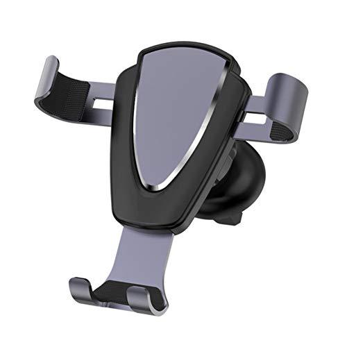 USNASLM Aleación de aluminio coche ventilación montaje automático gravedad teléfono móvil titular soporte flexible teléfono móvil