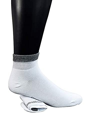 Yomandamor Men's Bamboo Diabetic Ankle Socks