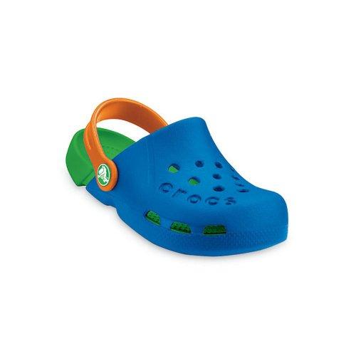 Crocs Kids Electro Shoe Sea Blue/Lime, light weight clog, double colours - double fun! UK Kids 10