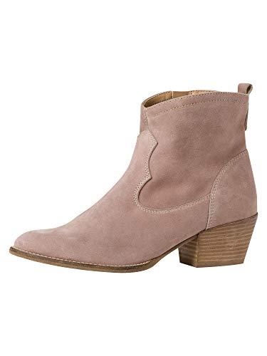 Tamaris Damen Stiefel 25700-34, Frauen Cowboy Stiefel, leger Boots Stiefelette lederstiefel Western-Stiefel reißverschluss,Taupe,38 EU / 5 UK