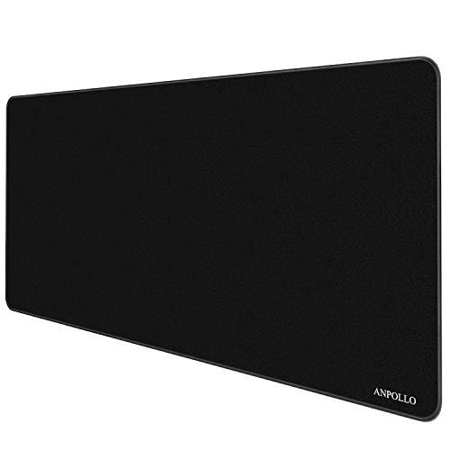 Anpollo XXL Alfombrilla para ratón 900 x 400 x 3mm Speed Gaming Mousepad Mouse Pad para Ordenador Base para Mesa Grandes Dimensiones - Negro