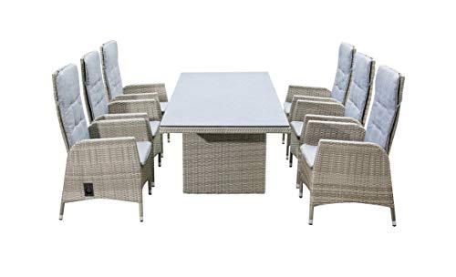 LC Garden Sitzgruppe Essgruppe Gartenmöbel Dining Set 6 Personen Roma Dining Set I grau-Mix