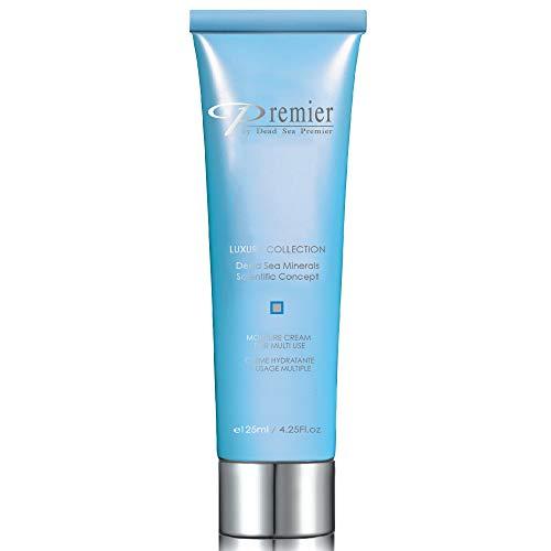 Premier Dead Sea Moisture Cream for Multi Use for face and body, anti-aging face cream, skin care with aloe Vera gel, face moisturizer, light, non sticky. XL size 4.2 fl.oz