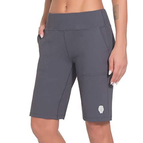 PIQIDIG Womens Shorts for Summer Lounge Shorts High Waiste Bermuda Shorts Grey S