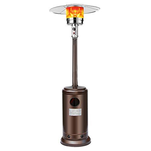 Sunningdale Outdoor Propane Gas Patio Heater 46,000 BTU Stainless Steel Freestanding Outdoor Heater w/Tip Over Protection for Garden, Outdoor/Indoor, Quiet Operation, Dust &Waterproof