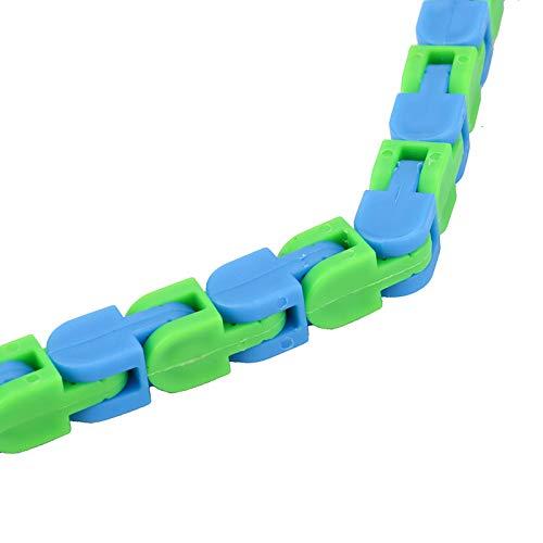 NRRN Colorido rompecabezas sensorial Fidget juguetes para aliviar el estrés rotar y dar forma, cadena de bicicleta, juguete de descompresión para adultos, niños de 48 bits